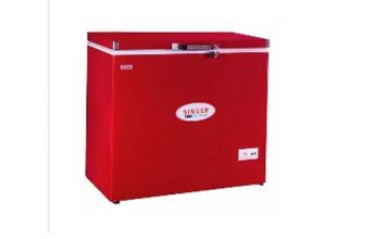 SINGER Chest Freezer 290 Ltr Red